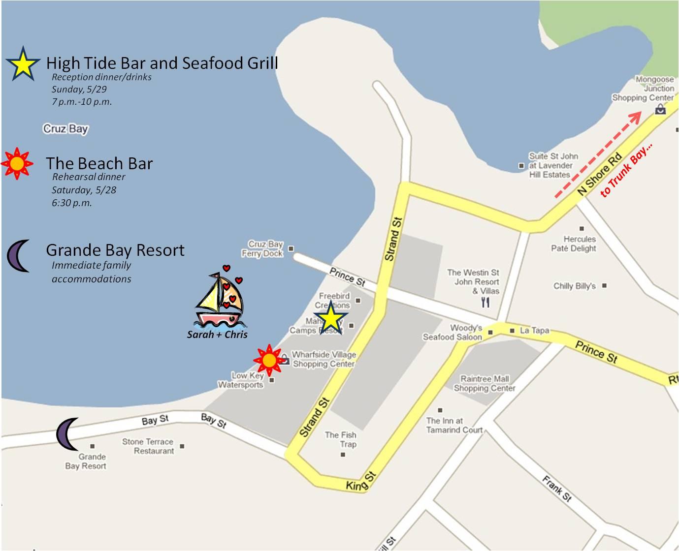 Cruz Bay Shopping Restaurant Entertainment