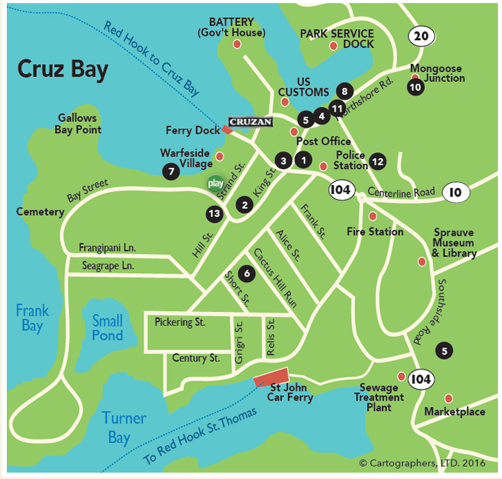 map cruz bay