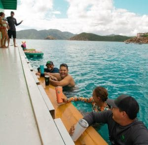 Belly-up to the boat bar at the Lime Out and enjoy the best tacos on island. Only in Coral Bay, St. John!