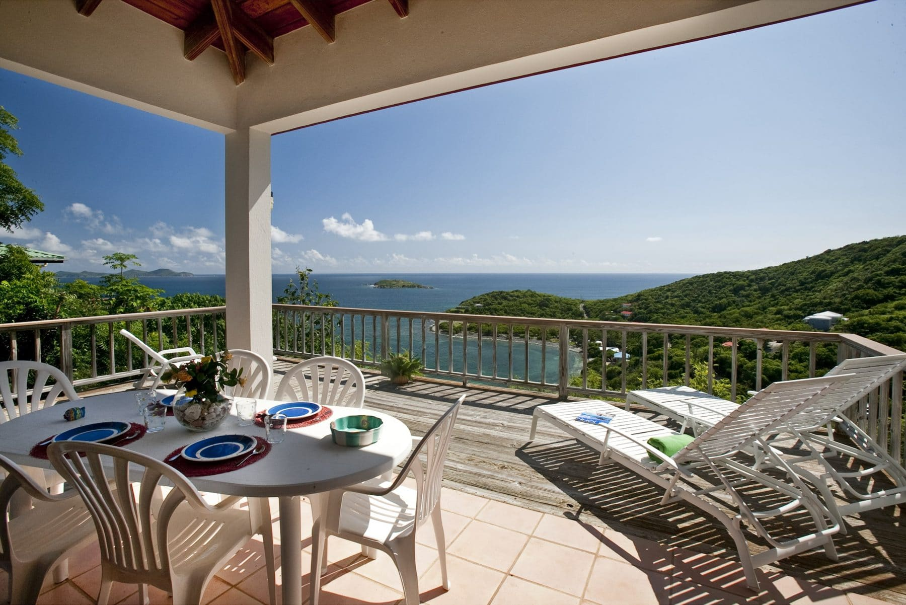 t john vacation rentals Casanita Porch