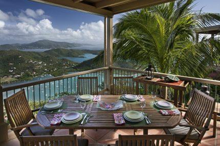 virgin islands rentals LeMer dining