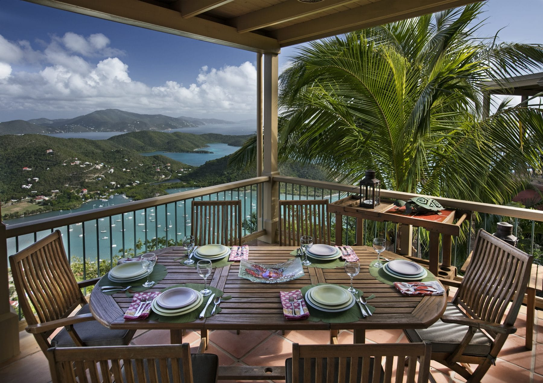 virgin islands rentals LeMer dining