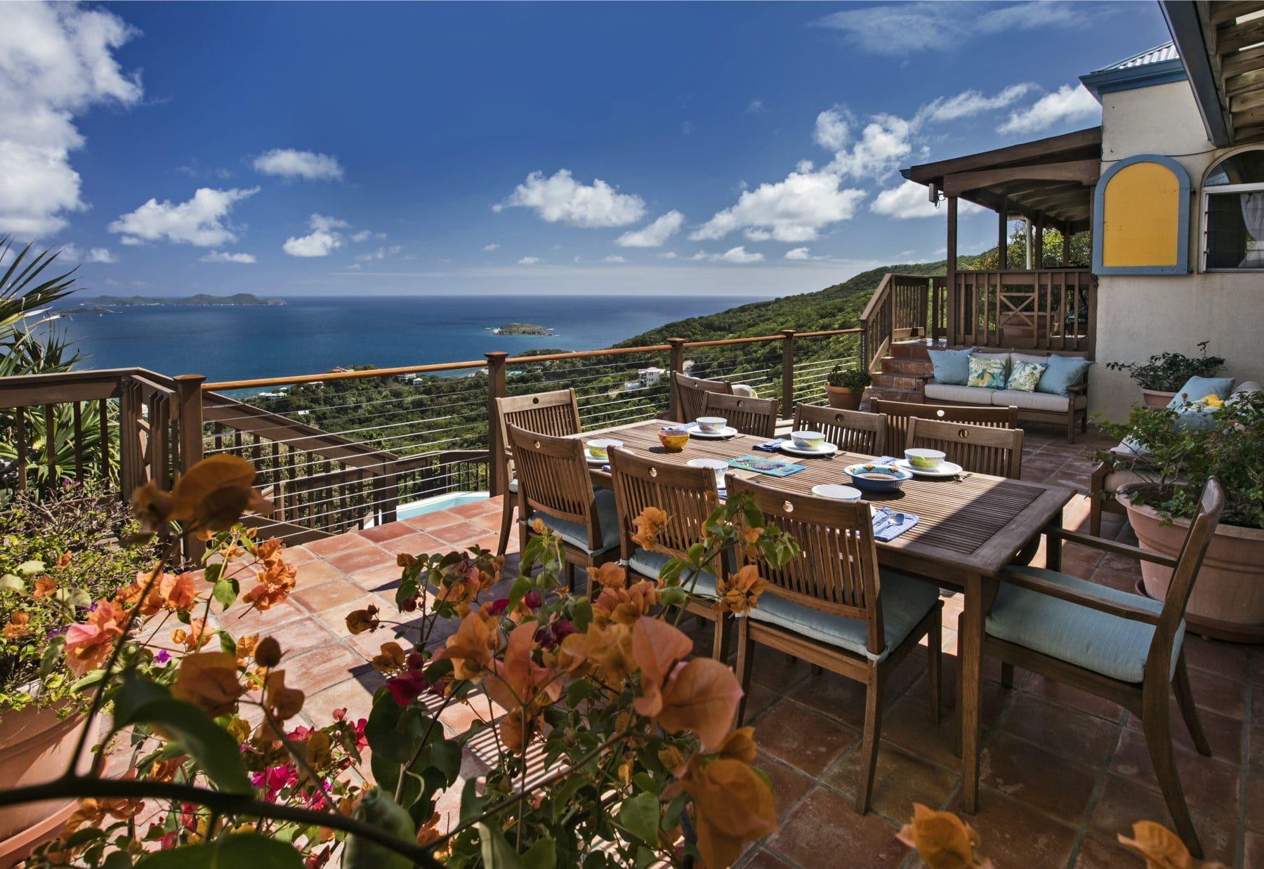 virgin islands vacation rentals PalladiosViews tea