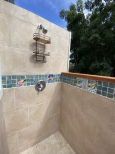 Skyridge villa outdoor shower