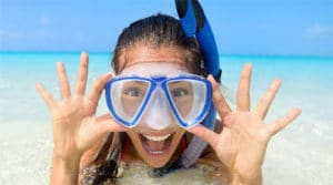 traditional snorkel mask